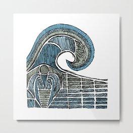 Leviathan Sketch - Color Metal Print