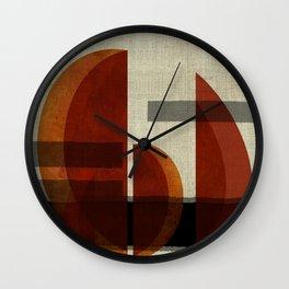 """""""Abstract Ships at Sunset"""" Wall Clock"""