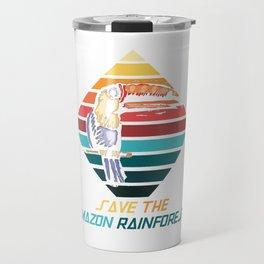 Parrot Amazonian Rainforest Travel Mug