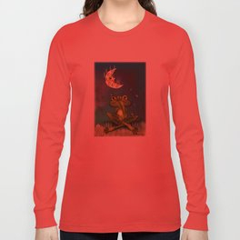 Frog and stinky moon Long Sleeve T-shirt