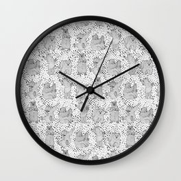 Lazy Bear Wall Clock