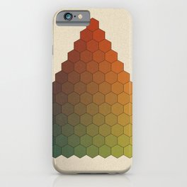 Lichtenberg-Mayer Colour Triangle vintage variation, Remake of Mayers original idea of 12 chambers iPhone Case