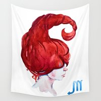 scorpio Wall Tapestries featuring Scorpio by Aloke Design