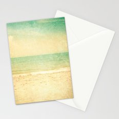 Vintage textured beach  Stationery Cards
