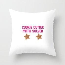 Cookie Math Solver Funny Christmas Teacher Throw Pillow