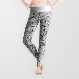 Linear Roses Leggings