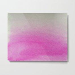 Ombre Watercolor pink Metal Print