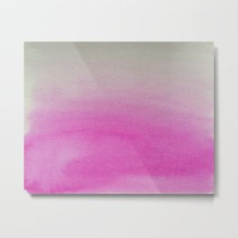 Ombre Watercolor pink Metal Print