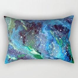 Galaxy (blue/green) Rectangular Pillow