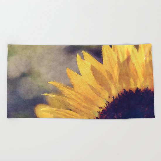 Another sunflower  Beach Towel
