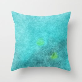 stained fantasy crystalline Throw Pillow
