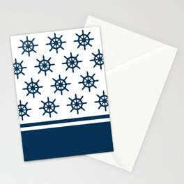 Sailing wheel pattern Stationery Cards