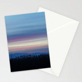 streaky sunset Stationery Cards