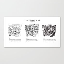 How to Draw a Bicycle Canvas Print