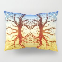 Tree Abstract of Spinning Colors Pillow Sham