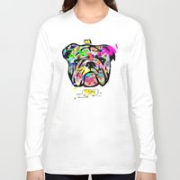 bulldog Long Sleeve T-shirts featuring Bulldog by morganPASLIER