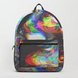 707   abstract paint pattern texture concept color colorful glitch psychedelic marble wavy distort l Backpack