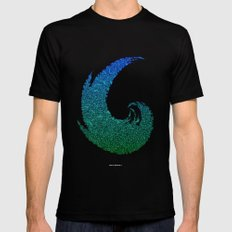 - summer wave - LARGE Black Mens Fitted Tee