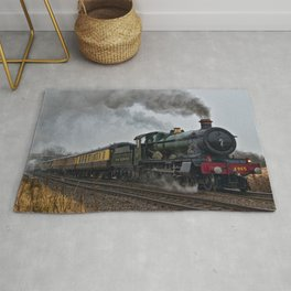 Rood Ashton Hall steam locomotive Rug