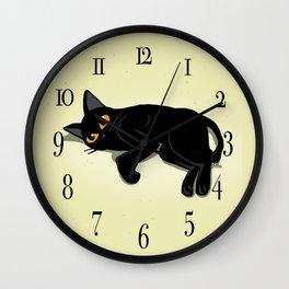 Lying down Wall Clock