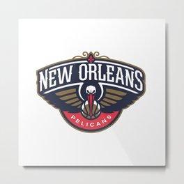 Pelicans Logo Metal Print