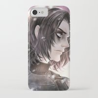 winter soldier iPhone & iPod Cases featuring Winter Soldier by Lüleiya