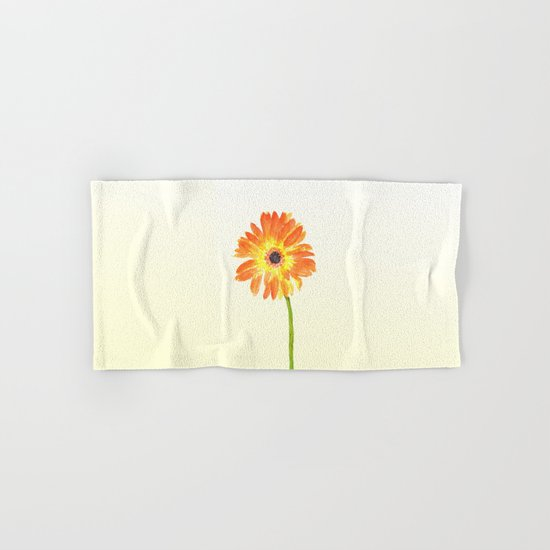 orange gerbera Hand & Bath Towel