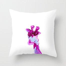 My giraffe is pink Throw Pillow