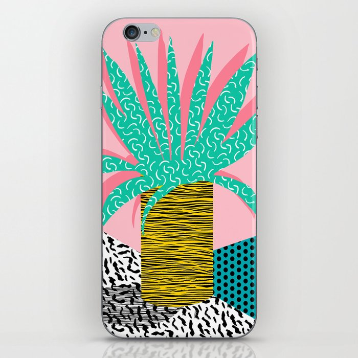 In the Mix - 80's neon house plant tropical garden container garden art print botanical natural  iPhone Skin