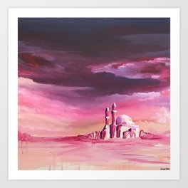 Dreamy Mosque Art Print