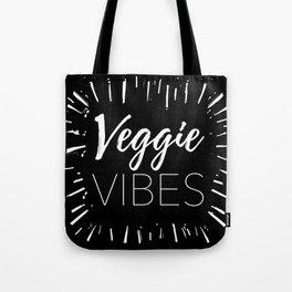 Veggie Vibes Black Tote Bag
