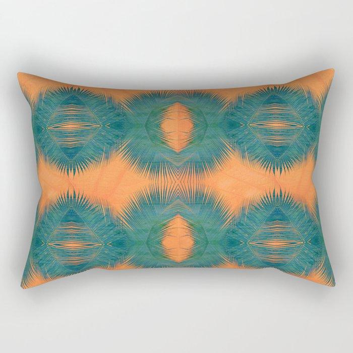Coral Palm Rectangular Pillow