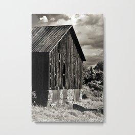 Sepia Barn Metal Print