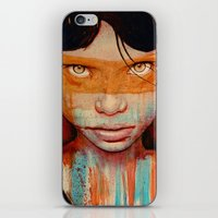 portrait iPhone & iPod Skins featuring Pele by Michael Shapcott