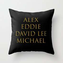 Bandmates XVI (VH) Throw Pillow