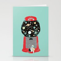 ilovedoodle Stationery Cards featuring My childhood universe by I Love Doodle