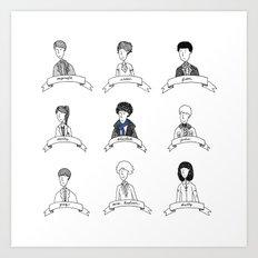 Sherlock Character Sketches Art Print