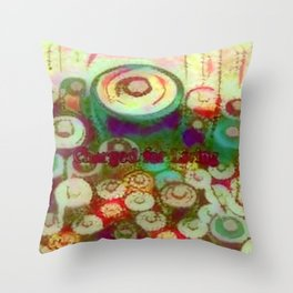 Charged for Easy Living Throw Pillow