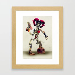 Invader Skull Framed Art Print
