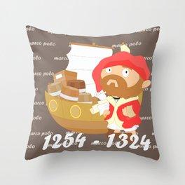 Marco Polo Throw Pillow