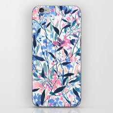 Wandering Wildflowers Blue iPhone & iPod Skin