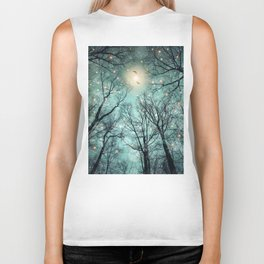 Nature Blazes Before Your Eyes (Mint Embers) Biker Tank