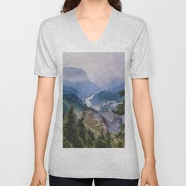 Burroughs Mountain Trail, Mt. Rainier National Park Unisex V-Neck