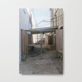 alley fence Metal Print