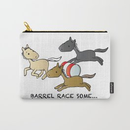 Three horses, Barrel Racing Carry-All Pouch