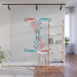 The Letter I Wall Mural