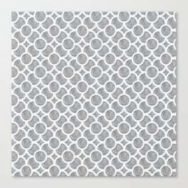 Grey Geometric Canvas Print