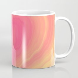 Abstract Tropical Pastel Rainbow Heart Pattern | Valentine's Day Coffee Mug
