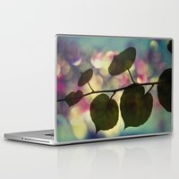 hiccup Laptop & iPad Skins featuring Kiwi leaves by Angela Bruno
