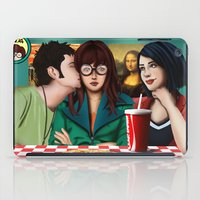 daria iPad Cases featuring Daria with Pizza and Friends by Artik